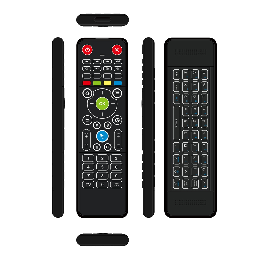 GHB-TZ18 86-Key IR / 2.4G Gyro Air Mouse Wireless Backlit Mini Keyboard AV IPTV TV BOX OTT DVB SAT  SET TOP BOX STB TV Remote Controller